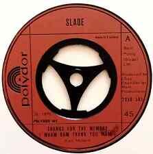 "SLADE - Thanks For The Memory (Wham Bam Thank You Mam) (7"") (VG+/NM)"