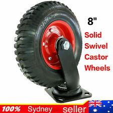 """8"""" Solid Swivel Castor 250-4 8×4 Caster Trolley wheelHEAVY DUTY Swivel Not Flat"""