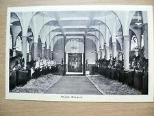 Vintage & Original Postcard- STATE STABLE: THE ROYAL MEWS, BUCKINGHAM PALACE