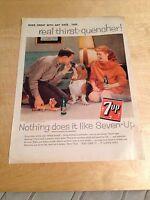 Vintage Mid Century Magazine Print Ad - 1959 - SEVEN UP 7UP SODA