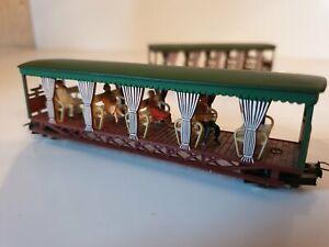 Locomotive train électrique Hoe Jouef Decauville wagons voyageurs avec passagers