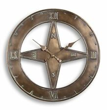Outdoor indoor Garden Wall Clock 15 inch Nautical home time piece  ds1099