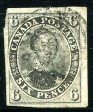 CANADA 1851 3az gest DICKES PAPIER 2600€++(Z1790