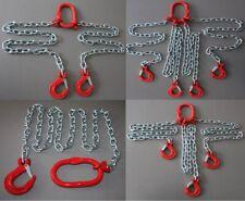 Kettengehänge Eisenkette Haken Anschlagkette nach Wunsch 1-4 Strang 6 8 10 mm !