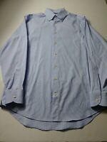 Charles Tyrwhitt Mens Non Iron Classic Fit Dress Shirt Size 15.5 Blue Striped
