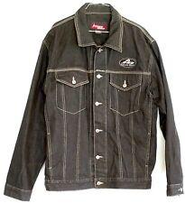 JOHNNY BLAZE Denim Jean Jacket L Men's Heavy Thick Jean Vintage Black Trucker