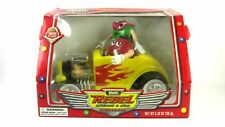 """VINTAGE M&M's Candy Dispenser """"Rebel Without a Clue"""" Yellow Hot Rod Red Green"""