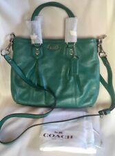 NWT ~ COACH 20342 Ashley Mini Tote Bag Leather Crossbody ~ Aegean Blue / Green