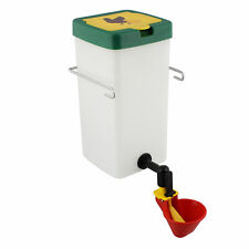 Rural365 Automatic Chicken Waterer System - 1L Red Poultry Watering Cup