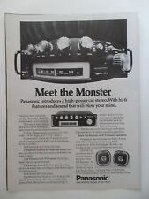 1976 Print Ad Panasonic High-Power Car Stereo ~ Meet the Monster