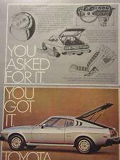 "1976 Toyota Celica GT Liftback Original Print Ad-8.5 x 10.5"""