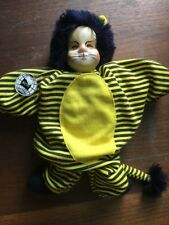Cat Clown Buthe Doll- Bean Bag, Porcelain? Black And Yellow Stripes