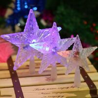 Holiday Ornament LED Lamp Christmas Tree Decoration Christmas Tree Topper Star