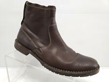 John Varvatos Star Driggs Leather Side Zip Moto Boots Size 10.5