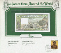 World Banknote West African States Togo 1985 500 Francs UNC P-806Th Fancy 977977