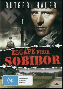 ESCAPE FROM SOBIBOR DVD 1987 NEW Region 4 Rutger Hauer Alan Arkin WWII War RARE