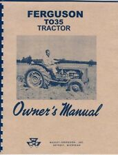 Massey Ferguson TO 35 Operators Manual Print No Grease