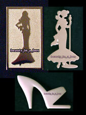 """Barbie Pin Exclusive Collector Membership Brooch Silhouette 1"""" 3 cm Lot 3 Pins"""