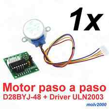 1x Motor paso a paso 4 Fases + Driver ULN2003 5V - STEPPER MOTOR 28BYJ-48