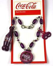 COCA COLA Cerezo COKE Pulsera Brazalete Tapa de Botella BOTTLE CAP Estilo