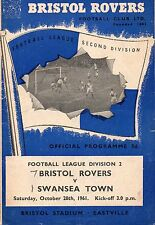Oct 61 BRISTOL ROVERS v SWANSEA TOWN