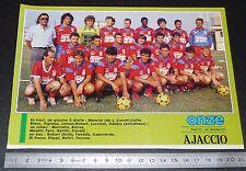 CLIPPING POSTER FOOTBALL 1987-1988 D2 GAZELEC AJACCIO CORSICA MEZZAVIA GFCA