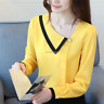 Elegant Women Long Sleeve Spring Ladies Business Office Work T Shirt Blouse Tops