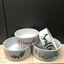 Personalised Name Pet Bowl Rabbit Animal Cat Dog Food Water Mrs Hinch Small Larg