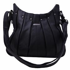 Ladies Women Genuine Leather Handbag Black Soft Cross Body Shoulder Bag 3731