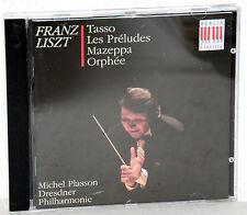 CD FRANZ LISZT Tasso-Les Préludes-Mazeppa-Orphée - Michel Plasson / Dresdner Ph.