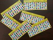 6  Packets Lot - BINDIS TEMPORARY/TATTOS  PARTY BINDIS  GLITTER- Big Size-