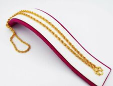 4 MM Rope Chain 22K 23K 24K Thai Baht Gold Filled Yellow GP Necklace 26 inch