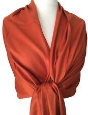Pashmina Burnt Orange Wrap Ladies Fair Trade Rust Shawl Womens Scarf Wedding
