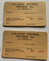 Atlantic Central Airlines Inc Boarding Pass Blank X 2 Rare