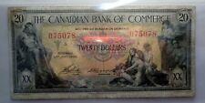 Canadian Bank of Commerce 1935 ($20) Twenty Dollar Note  ST.