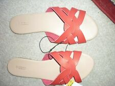 SMART NEW RED SLIDER STYLE SANDALS. SIZE 6. FROM MATALANS. NEW WITH TAGS. RRP £1