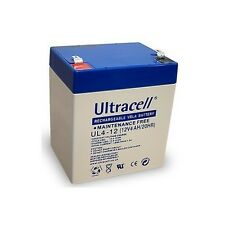 Ultracell UL4-12 : Batterie au plomb étanche 12V AH : 90x70x107mm (4000mAh)