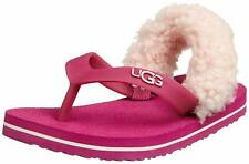 NEW UGG Australia Yia Yia Flip Flops (Fruit Punch/Baby Pink) Child Small 2/3