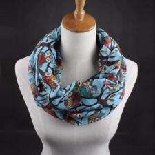 Newest Women Ladies Owl Pattern Print Scarf Warm Wrap Shawl Voile Scarf Scarves