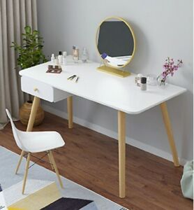 White Computer Desk Laptop PC Dressing Table Makeup Drawer Home Bedroom Writing