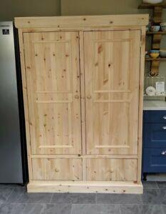 Handmade Pine Pantry/Larder Cupboard
