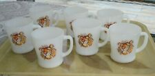 VTG SET OF 7 FIRE-KING ESSO TONY THE TIGER ANCHOR HOCKING MUGS MADE IN USA