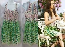 Anthropologie Floral Wisteria Halter Dress By Maeve Size 4 Rare