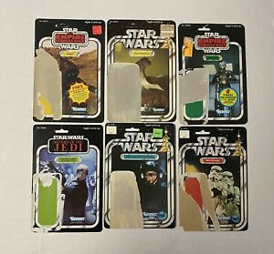 Vintage Star Wars Original Cardback Lot of 6 Kenner 1978 Stormtrooper Jawa Luke