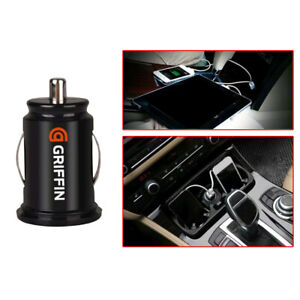 1x GRIFFIN Twin USB Car Charger Cigarette Lighter Adapter Fit GPS Cell Phone