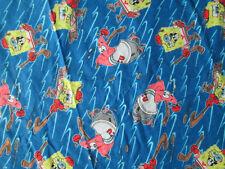 SPONGE BOB SQUARE PANTS HOCKEY FLANNEL FABRIC FQ