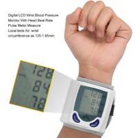 Automatischer Digital LCD Handgelenk Blutdruckmonitor der Herzschlag misst