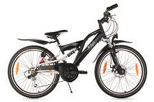 "Children's Mountain Bike 24"" Full Suspension B-Boy 18 Speed Black New 612B"