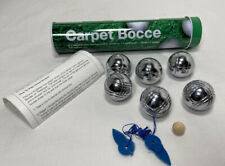 BOCCE BALL SET LAWN CARPET BOWLING BOULES 8 PIECES