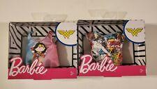 Barbie DC Comics Wonder Woman Fashion Pack Lot of 2 Barbie Shirts